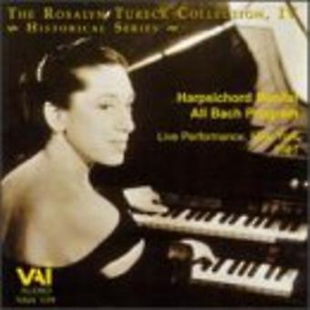 Rosalyn Tureck - The Rosalyn Tureck Collection, Vol. 4: Cembalo skäl alla Bach Program [CD] USA import