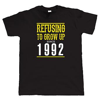 Refusing To Grow Up Since 1992 Mens Funny T Shirt