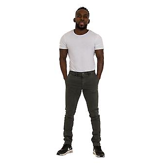 Slim Fit Mens Chinos - grå Smart Casual Chino bukser menns bukser