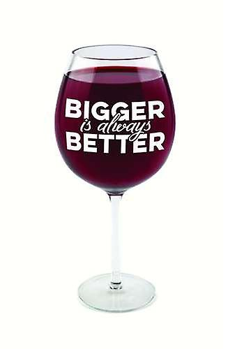 Wine glass of huge bigger is better glass 750 ml prank
