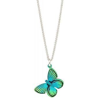Ti2 Titanium Woodland Large Butterfly Pendant - Green