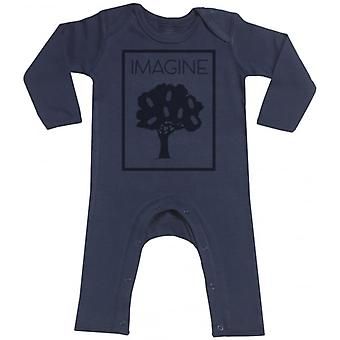 Spoilt Rotten Imagine Navy Baby Footless Romper