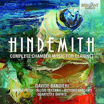 Hindemith / Bandieri, Davide - Hindemith: Complete Chamber Music for Clarinet [CD] USA import