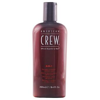 American Crew Crew 3 In 1 Sport Edition 250Ml (Man , Hair Care , Hairstyling , Shampoos)