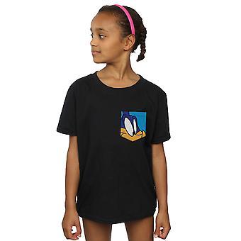 Looney Tunes Girls Roadrunner Face Faux Pocket T-Shirt
