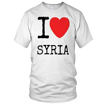 Ik hou van Syrië - Anti-oorlog vrede dames T Shirt