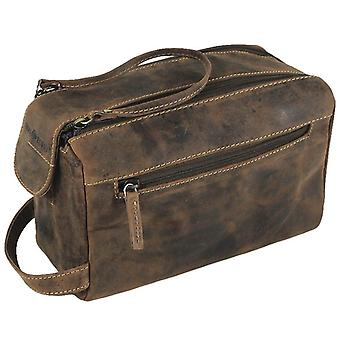 Greenburry vintage leather toiletry bags 1737-25
