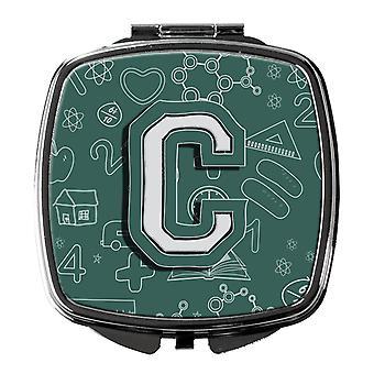 Carolines Treasures  CJ2010-CSCM Letter C Back to School Initial Compact Mirror