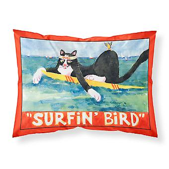 Black and white Cat Surfin Bird Moisture wicking Fabric standard pillowcase