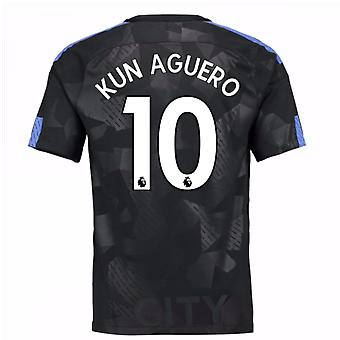 2017-18 Man City Third Shirt (Kun Aguero 10) - Kids