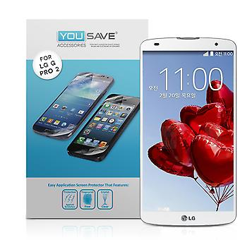 Yousave Accessories LG G Pro 2 Screen Protectors - 3 Pack