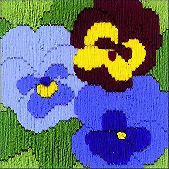Three Pansies Counted Cross Stitch Kit-4