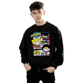 DC Comics Men's Chibi Super Friends Dance Sweatshirt
