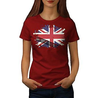 Union Jack Flag London UK Women RedT-shirt | Wellcoda