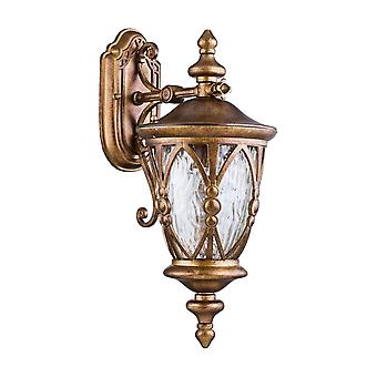 Maytoni Lighting Rua Augusta  Outdoor Collection Wall Mounted Coach Lantern, Antique Old