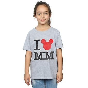 Disney Girls Mickey Mouse I Love Mickey T-Shirt
