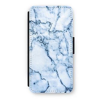 iPhone 7 Case Flip - mármore azul