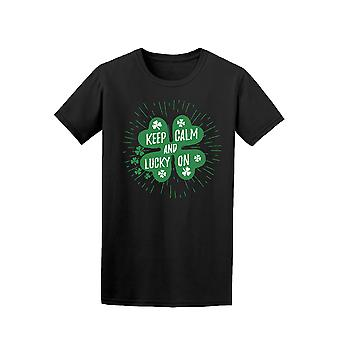 Keep Calm And Lucky On Shamrock Graphic Tee - Image by Shutterstock