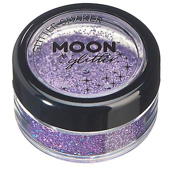 Holographic Glitter Shakers by Moon Glitter – 100% Cosmetic Glitter for Face, Body, Nails, Hair and Lips - 5g - Purple