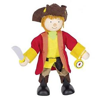 Goki Flexible puppet pirate captain