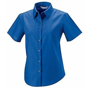 Russell collectie dames Oxford shirt met korte mouwen