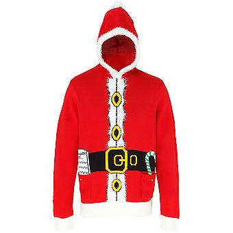 Christmas Mens & Womens Santa 3D Hooded Jumper Sweater
