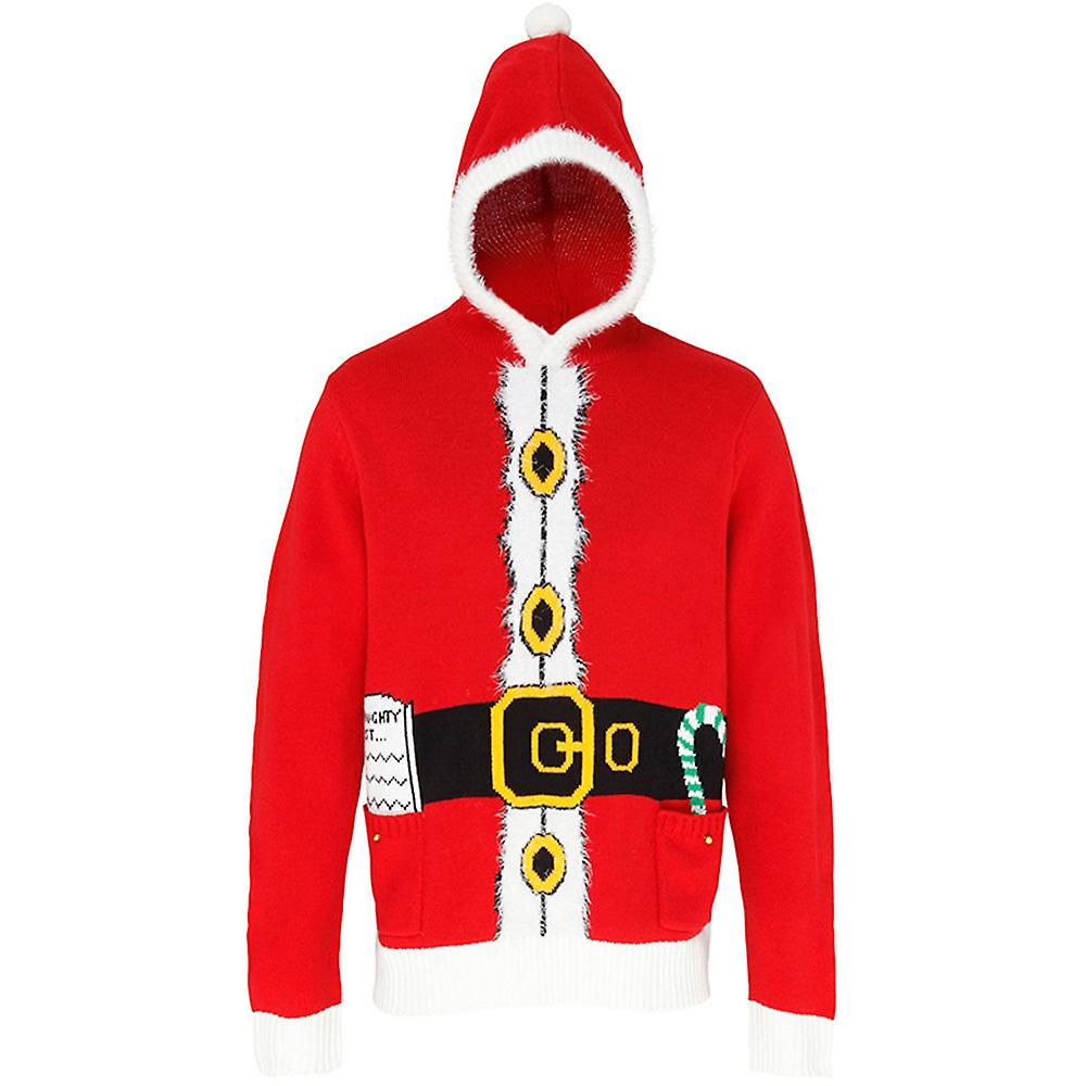 Christmas Mens & Womens Santa 3D Hooded Jumper Sweater