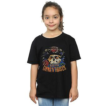 Guns N Roses Girls Vintage Skull T-Shirt
