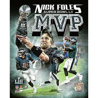 Nick Foles Super Bowl LII MVP Portrait Plus Photo Print