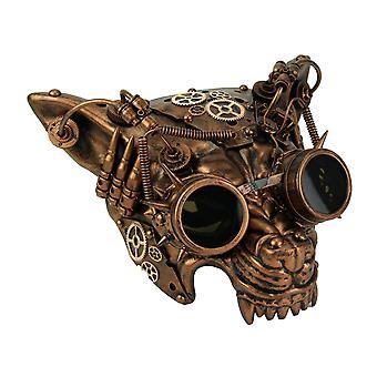 Máscara de lobo de Steampunk cobre metálico Mad Dog