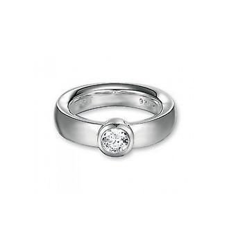 ESPRIT damer silver cubic zirconia ring av omfamna vit ESRG90998A1