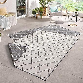 Drejning tæppe Malaga grå fløde i- & udendørs