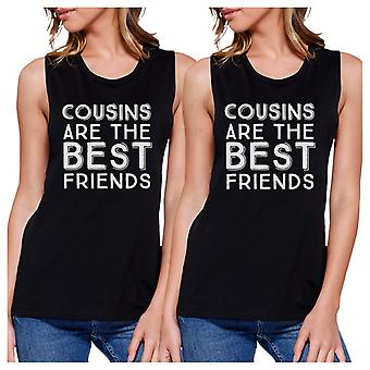 Cousins Best Friends Funny Family Matching Muscle Tops Gift Ideas