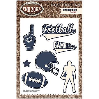 Photo Play Paper Etched Dies-End Zone