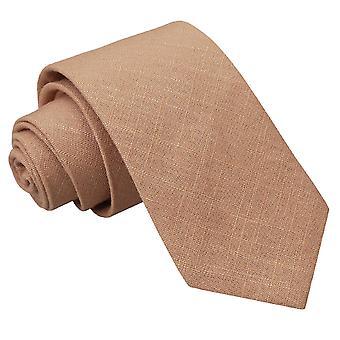 Gold Hopsack Linen Slim Tie