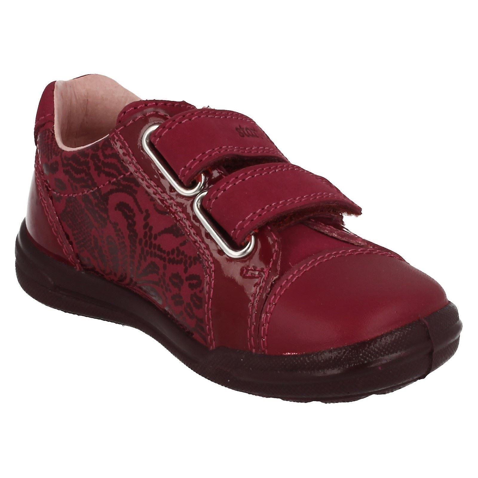 Startrite Flat Dual Velcro Strap Shoe Flexy Soft Milan