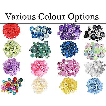 Choose Your Colour - 60g Bags of Assorted Buttons for Crafts
