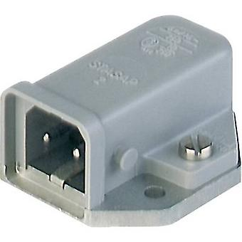 Mains connector STASAP Series (mains connectors) STASAP Plug, horizontal mount Total number of pins: 2 + PE 16 A Grey Hi