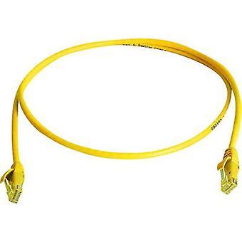 Telegärtner RJ45 Networks Cable CAT 6 U/UTP 3 m Yellow Flame-retardant, Halogen-free