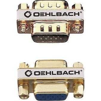 VGA-Adapter [1 x VGA uttag - 1 x VGA socket] guld guldpläterade kontakter Oehlbach VGA AD-2