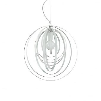 Ideal Lux Disco Modern White Adjustable Ring Globe Pendant