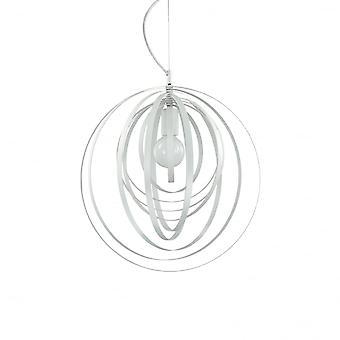 Ideal Lux Disco modernen weißen verstellbaren Ring Kugel Anhänger