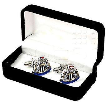 Newcastle Utd Fc Crest spinki do mankietów w pole prezentacji