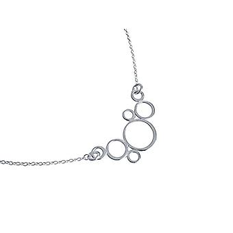 Chain - silver plated - Lady chain - necklace - 925 Silver - Rings - 45 cm