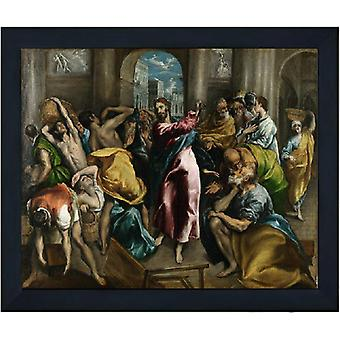 With The Purification of the temple, El Greco, 61x51cm