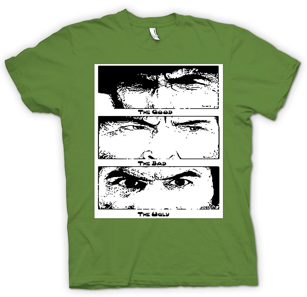 Mens T-shirt - Good Bad and the Ugly - BW