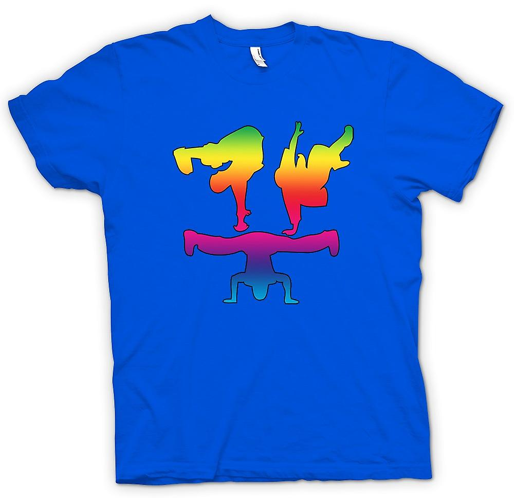 T-shirt des hommes - Pause Dance Moves - Rainbow