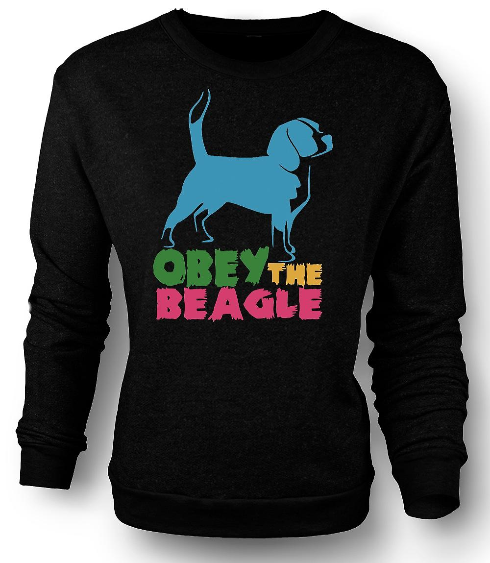 Mens Sweatshirt Obey The Beagle