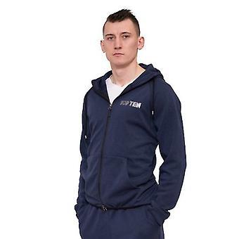 Top 10 azul escuro do casaco com capuz
