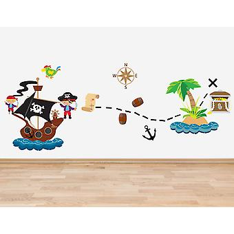 Set of 13 Pirate Theme Wall Sticker